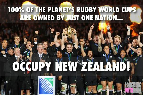 Rugby World Cup - Occupy New Zealand